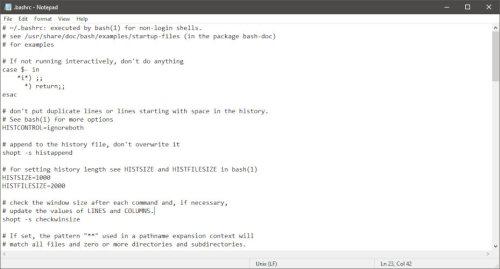 saltos de línea de Unix en el Bloc de notas de Windows
