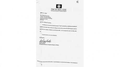 Facsímil del oficio recibido por el juez Marcelo Martínez de Giorgi.