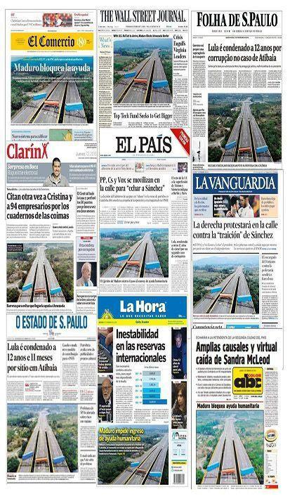 Los grandes medios internacionales amplificaron las mentiras sobre el puente Las Tienditas.
